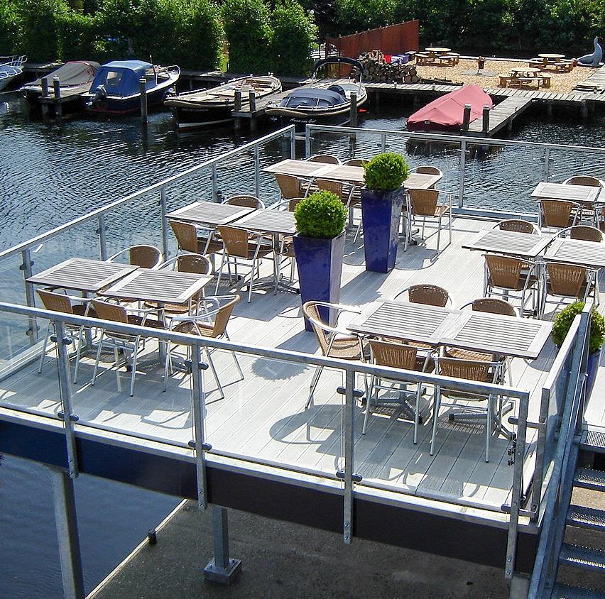 Restaurant met panoramaterras in Vinkeveen