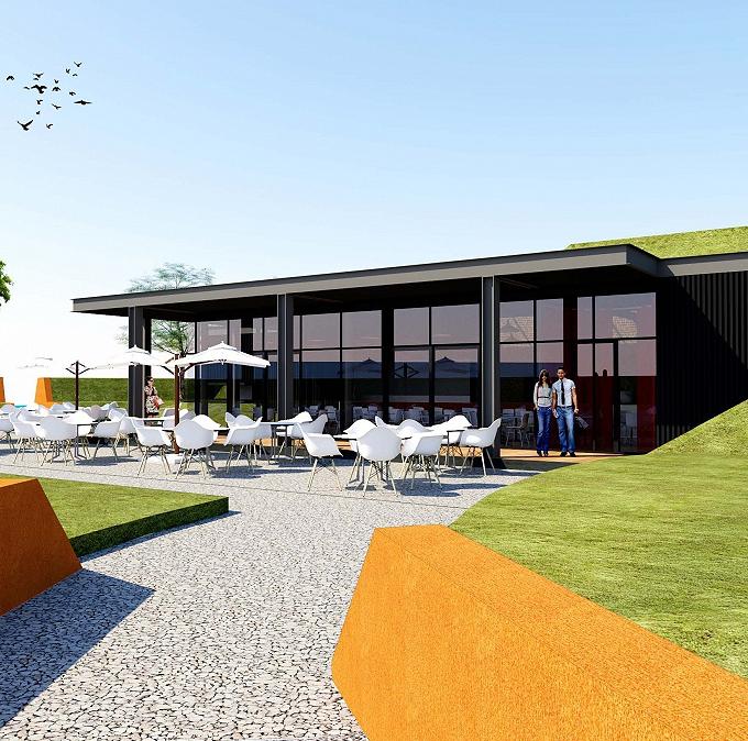 Nieuwbouw restaurant in Muiden