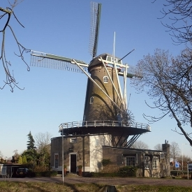 Restaurant in molen onder Rotterdam